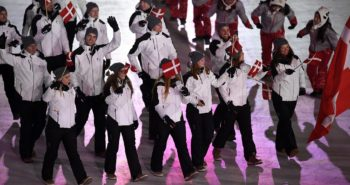 DK: 20180209, PyeongChang, Korea:  PyeongChang 2018 Olympiske Lege. Åbningsceremoni Danmark Foto: Lars Møller UK:  20180209, PyeongChang, Korea:  PyeongChang 2018 Olympic Games. Opening Ceremony. Denmark Photo: Lars Moeller