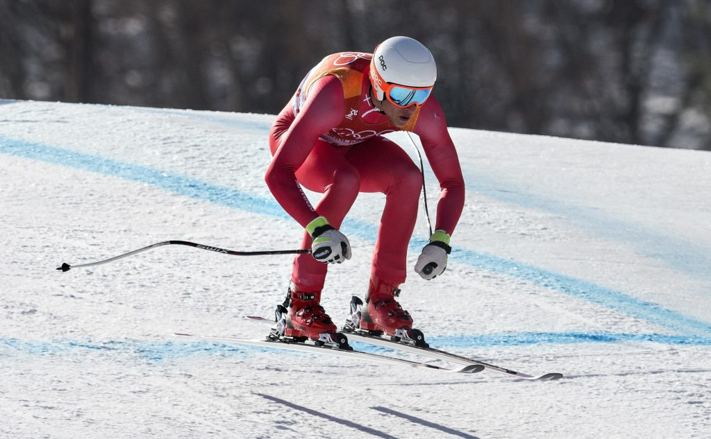 DK: 20180213, PyeongChang, Korea:  PyeongChang 2018 Olympiske Lege. Alpin skiløb kombineret for mænd. Styrtløb. Christoffer Faarup, Danmark. Foto: Lars Møller UK:  20180213, PyeongChang, Korea:  PyeongChang 2018 Olympiske Lege. Alpine skiing combined for men. Downhill. Christoffer Faarup, Denmark. Photo: Lars Moeller