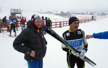 Bronze stafet  Mikael Jacobsen står til venstre for Hans Rafaelsen
